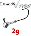 Dragon V-Point Speed Jig Head 2g (3 pcs) - hook sizes 1/0-4/0