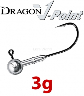Dragon V-Point Speed Jig Head 3g (3 pcs) - hook sizes 1/0-6/0