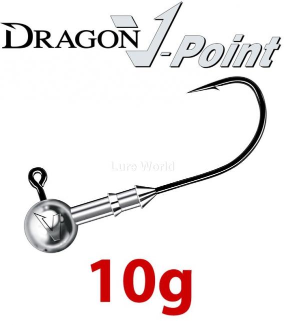 Dragon V-Point Speed Jig Head 10g (3 pcs) - hook sizes 1/0-6/0