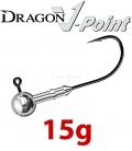Dragon V-Point Speed Jig Head 15g (3 pcs) - hook sizes 1/0-6/0