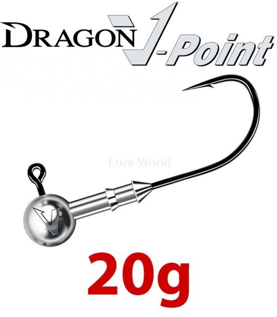 Dragon V-Point Speed Jig Head 20g (3 pcs) - hook sizes 1/0-6/0