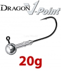 Dragon V-Point Speed Jig Head 20g (3 pcs) - hook sizes 1/0-6/0