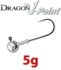Dragon V-Point Classic Jig Head 5g (5 pcs) - hook sizes 1/0-6/0