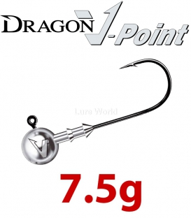 Dragon V-Point Classic Jig Head 7.5g (5 pcs) - hook sizes 1/0-6/0