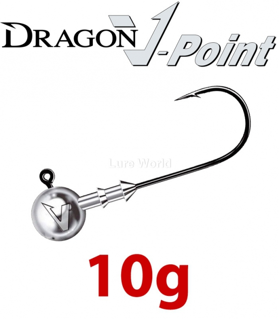 Dragon V-Point Classic Jig Head 10g (5 pcs) - hook sizes 1/0-6/0