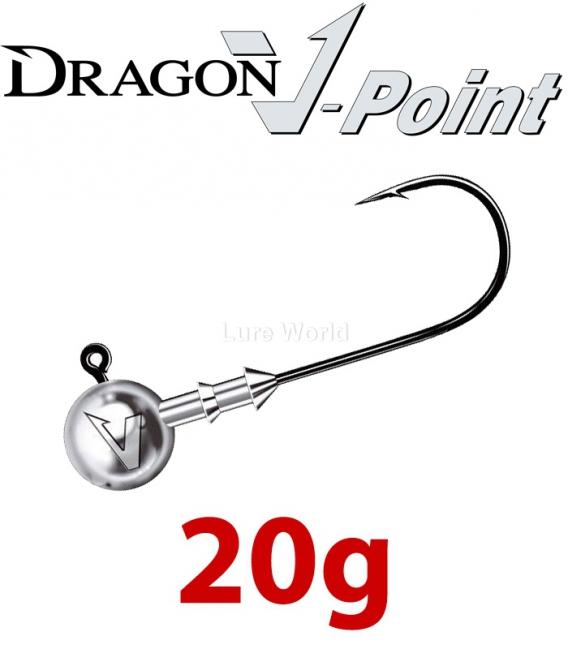 Dragon V-Point Classic Jig Head 20g (5 pcs) - hook sizes 1/0-6/0