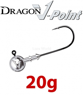 Dragon V-Point Classic Jig Head 20g (5 pcs) - hook sizes 1/0-6/0