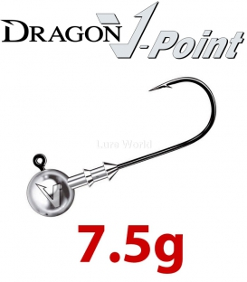 Dragon V-Point Big Game Jig Head 7.5g (3 pcs) - hook sizes 7/0-10/0
