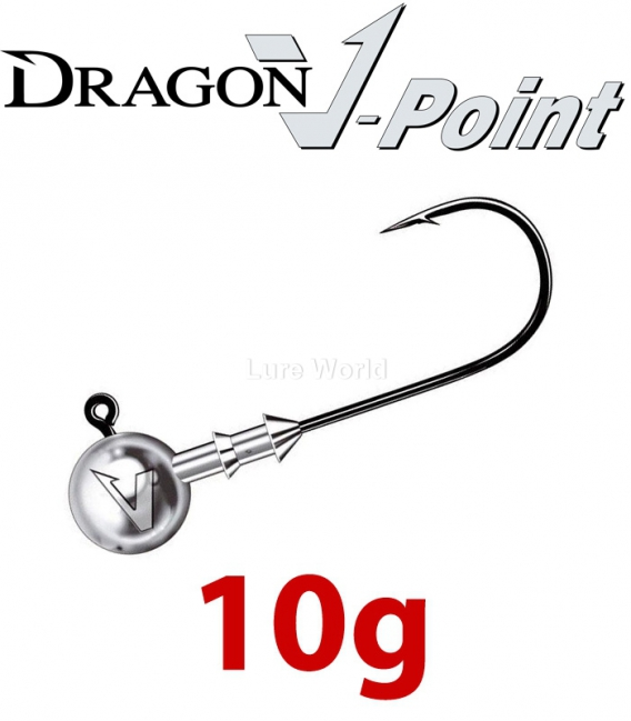 Dragon V-Point Big Game Jig Head 10g (3 pcs) - hook sizes 7/0-10/0