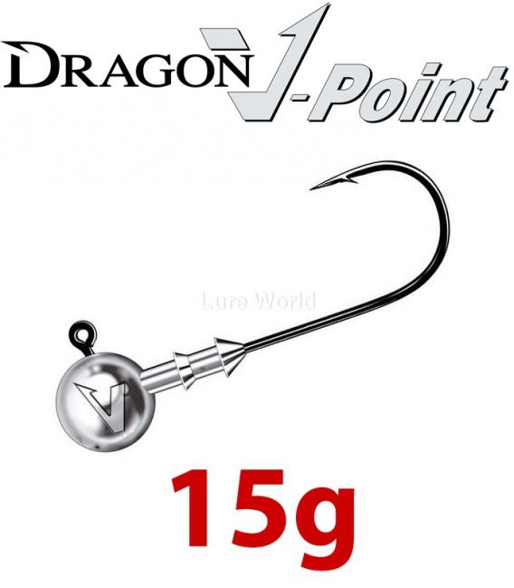 Dragon V-Point Big Game Jig Head 15g (3 pcs) - hook sizes 7/0-12/0