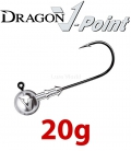 Dragon V-Point Big Game Jig Head 20g (3 pcs) - hook sizes 7/0-12/0