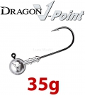 Dragon V-Point Big Game Jig Head 35g (3 pcs) - hook sizes 7/0-12/0
