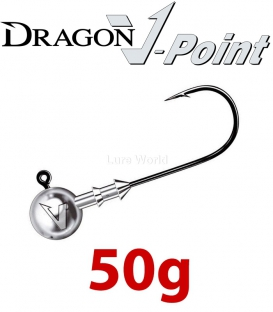 Dragon V-Point Big Game Jig Head 50g (3 pcs) - hook sizes 7/0-12/0