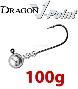 Dragon V-Point Big Game Jig Head 100g (2 pcs) - hook sizes 7/0-12/0