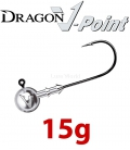 Dragon V-Point Eagle Jig Head 15g (5 pcs) - hook sizes 1/0-6/0