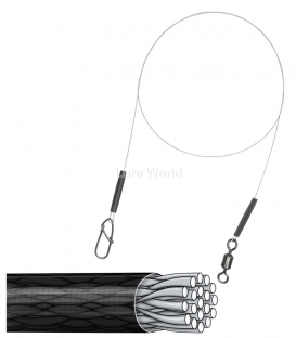 8kg Ultralight Wire Trace - A.F.W. Surflon 1x19 Coated - 40cm