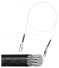 8kg Ultralight Wire Trace - A.F.W. Surflon 1x19 Coated - 30cm