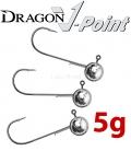 Dragon V-Point Aggressor Jig Head 5g (3 pcs) - hook sizes 1/0-6/0