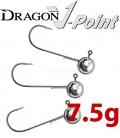 Dragon V-Point Aggressor Jig Head 7.5g (3 pcs) - hook sizes 1/0-6/0