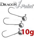 Dragon V-Point Aggressor Jig Head 10g (3 pcs) - hook sizes 1/0-6/0