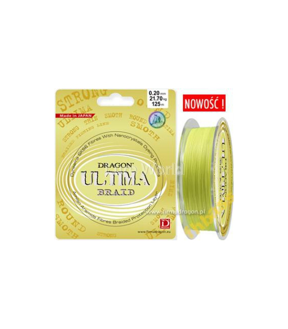 Dragon Ultima Yellow Hi-Viz Fishing Braid Line